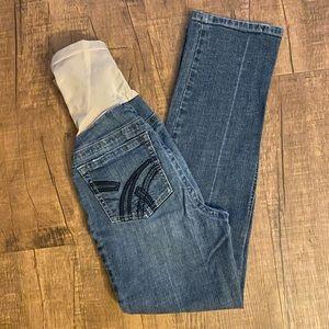 Indigo Blue Denim Maternity Jeans Size PXS